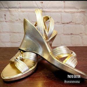 ■Franco Sarto■ (7) Gold & Silver Sandals